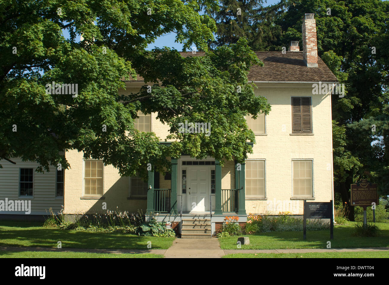 Hubbard House, an Underground Railroad safe house in Ashtabula OH, on the shore of Lake Erie. Digital photograph Stock Photo
