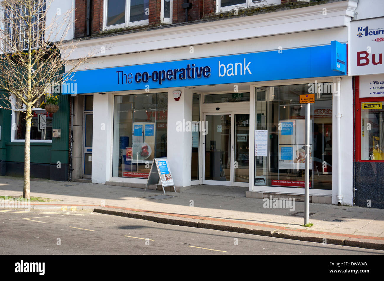 The Co-operative Bank Worthing West Sussex UK - Stock Image