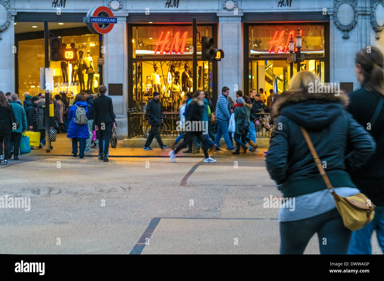 H&M Shop on Oxford Street - Stock Image