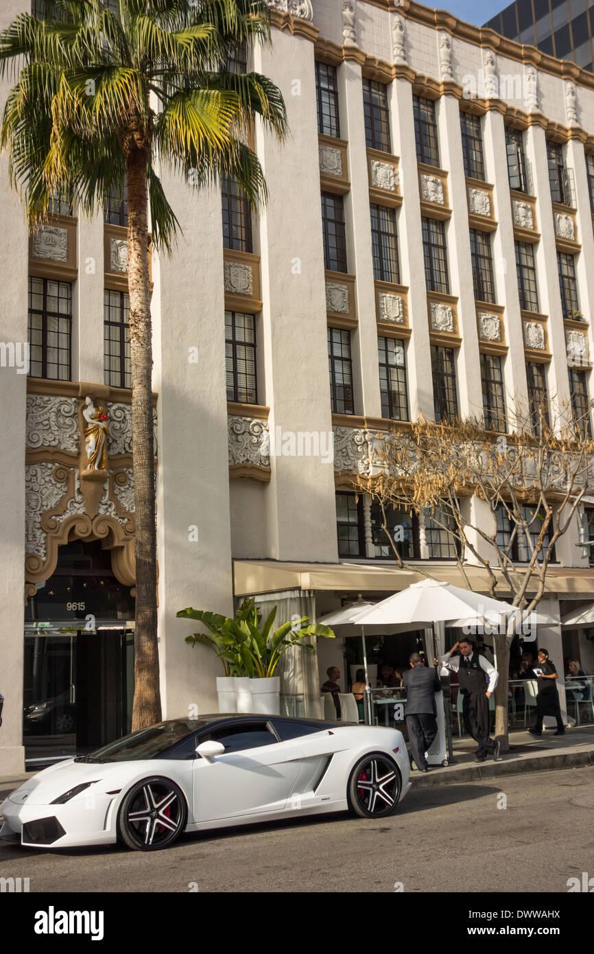 Lamborghini sports car in Beverly Hills Los Angeles California USA Stock Photo