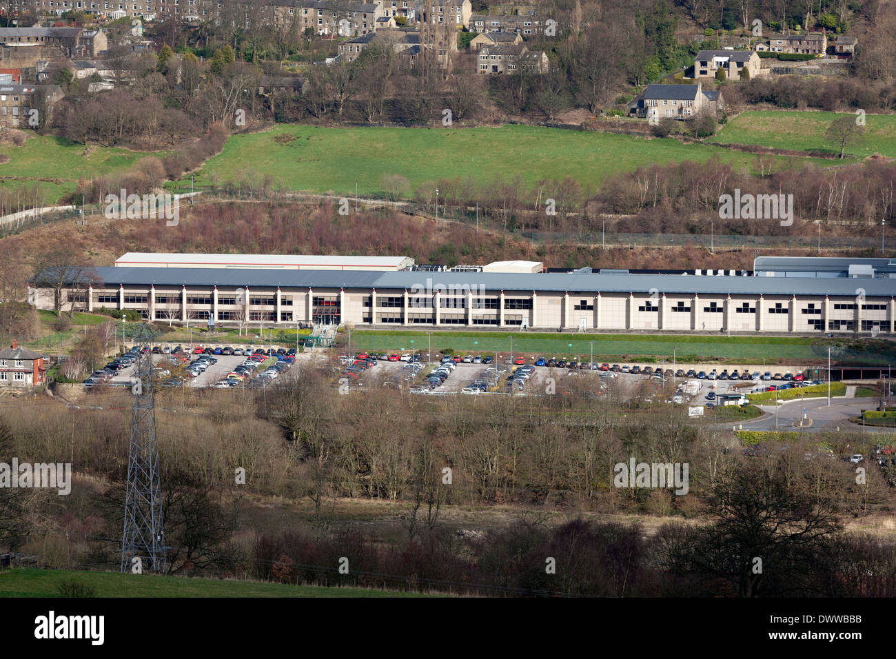 Lloyds Bank Data Centre, Copley, West Yorkshire Stock Photo