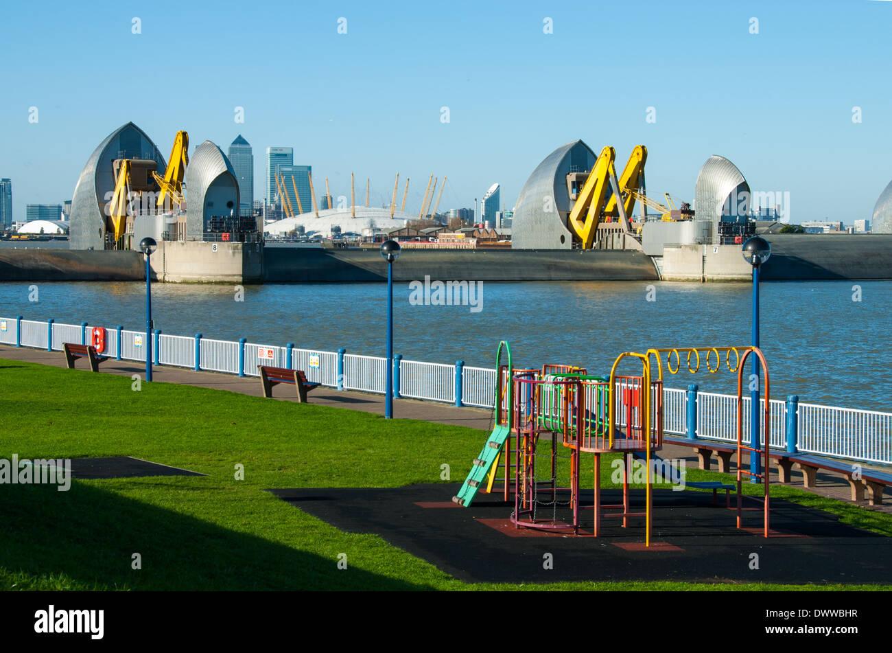 The Thames Barrier, London. UK Stock Photo