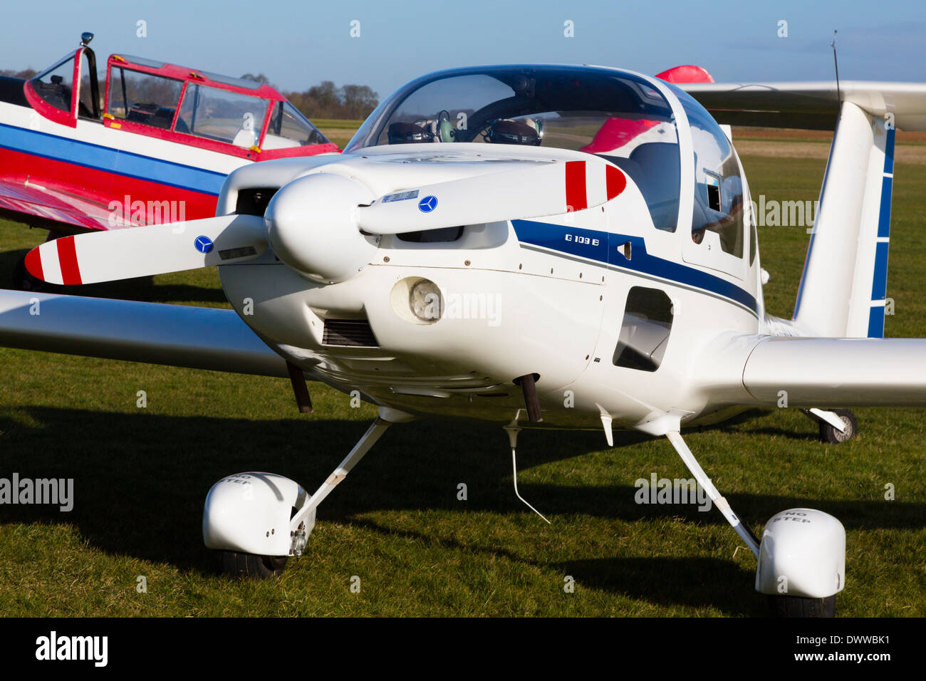 Grob 109B touring motor glider. UK Stock Photo