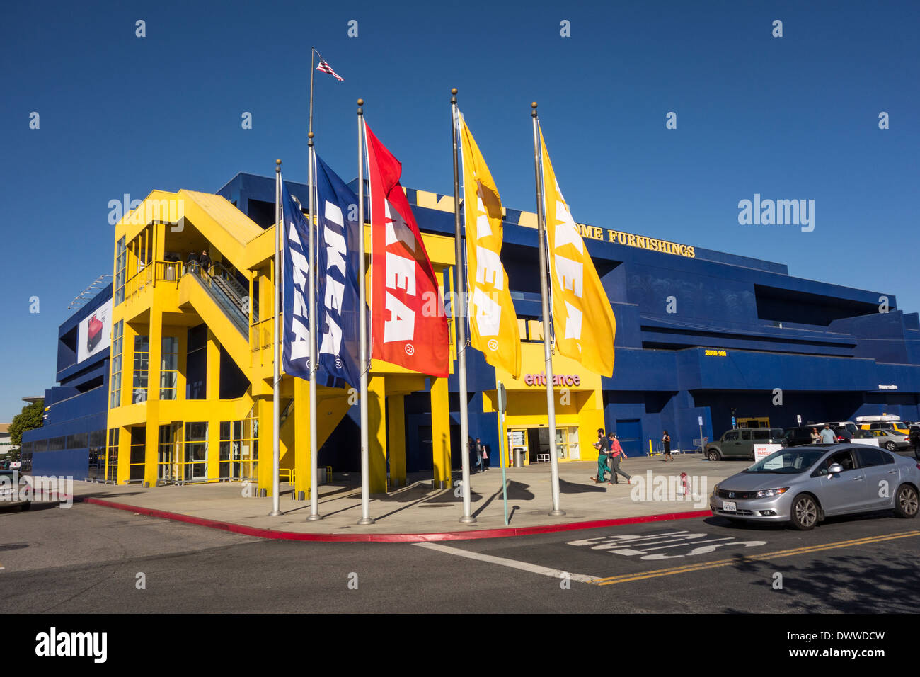 exterior of ikea megastore in los angeles area southern california stock photo 67556857 alamy. Black Bedroom Furniture Sets. Home Design Ideas