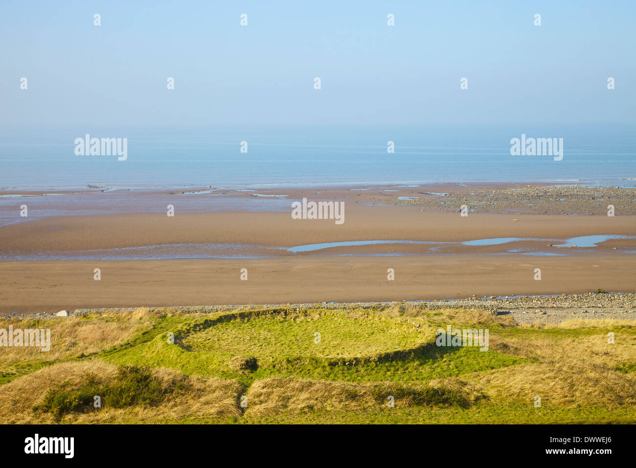 Salt Pans at Crosscanonby by Allonby Bay Cumbria England United Kingdom Great Britain Stock Photo