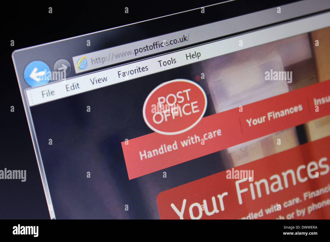 postoffice website - Stock Image