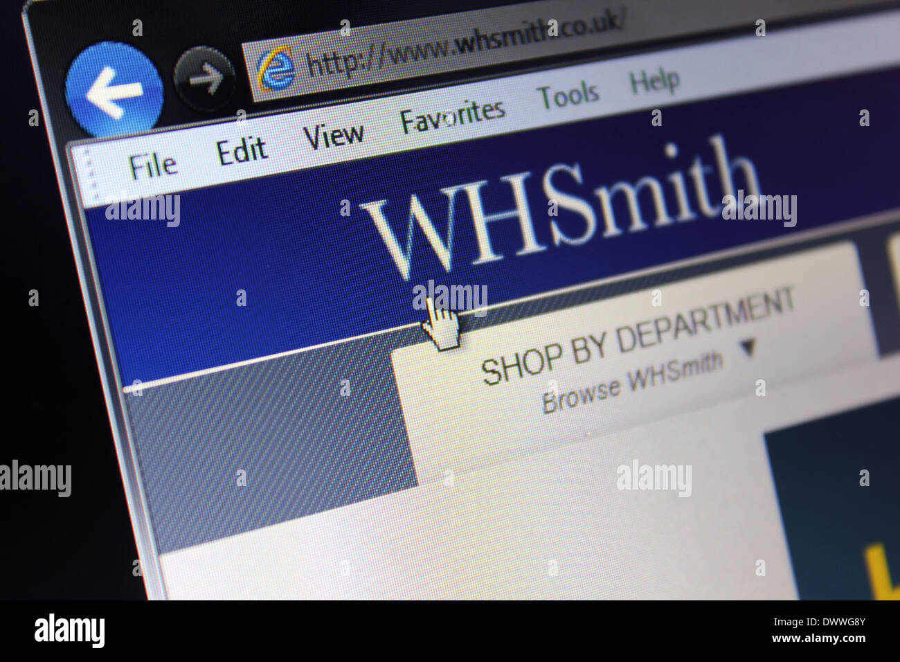 WH Smith online webpage - Stock Image