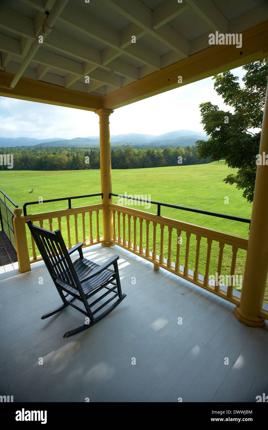 Rocking Chair on porch - Stock Image