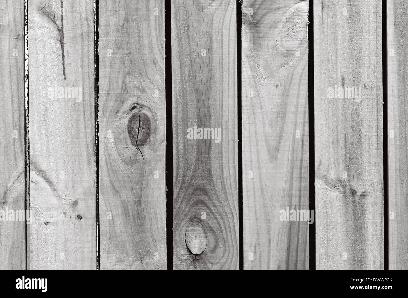 Line of empty wood planks background texture. (BW) - Stock Image