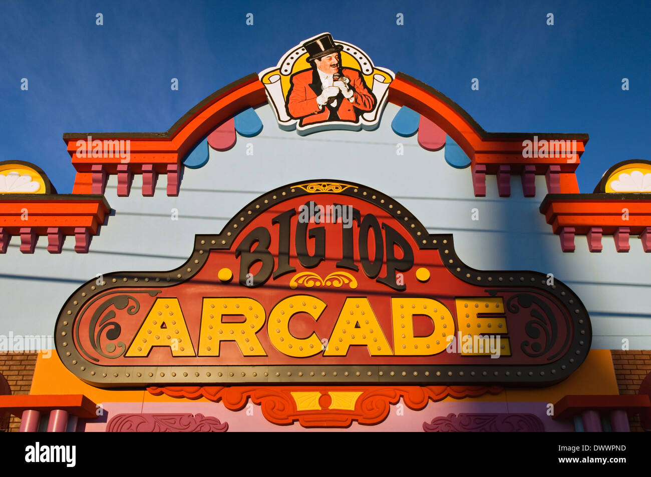 Facade of Big Top Arade in Pigeon Forge, Tennessee - Stock Image