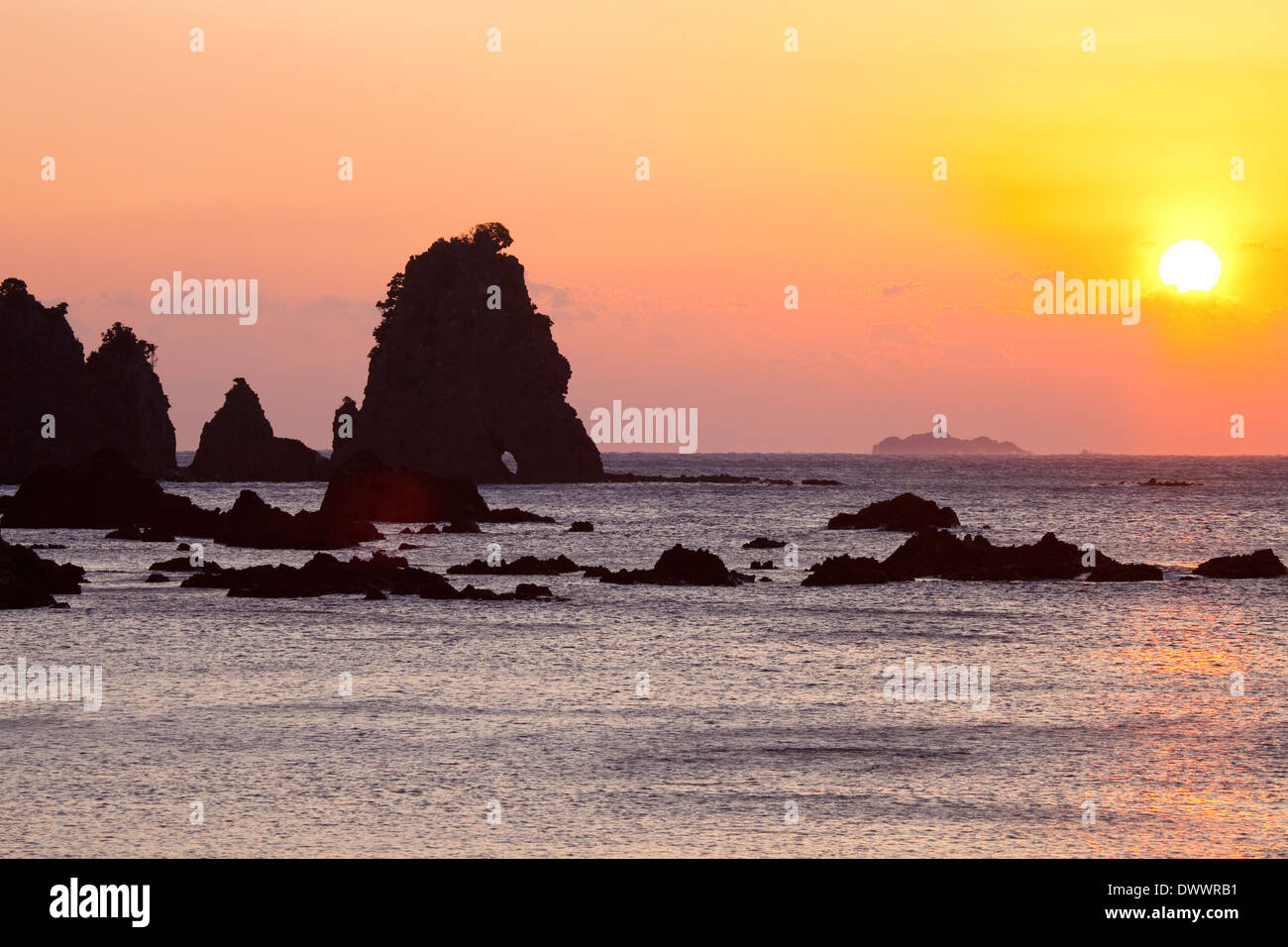 Minokake Iwa, Shizuoka Prefecture, Japan - Stock Image