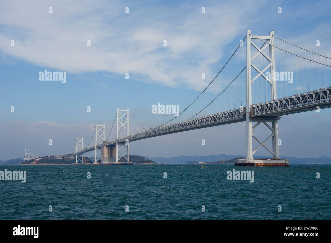 Seto Ohashi Bridge, Japan Stock Photo