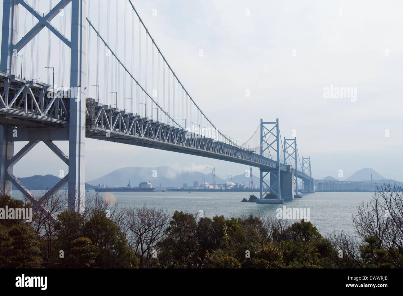 Seto Ohashi Bridge, Japan - Stock Image