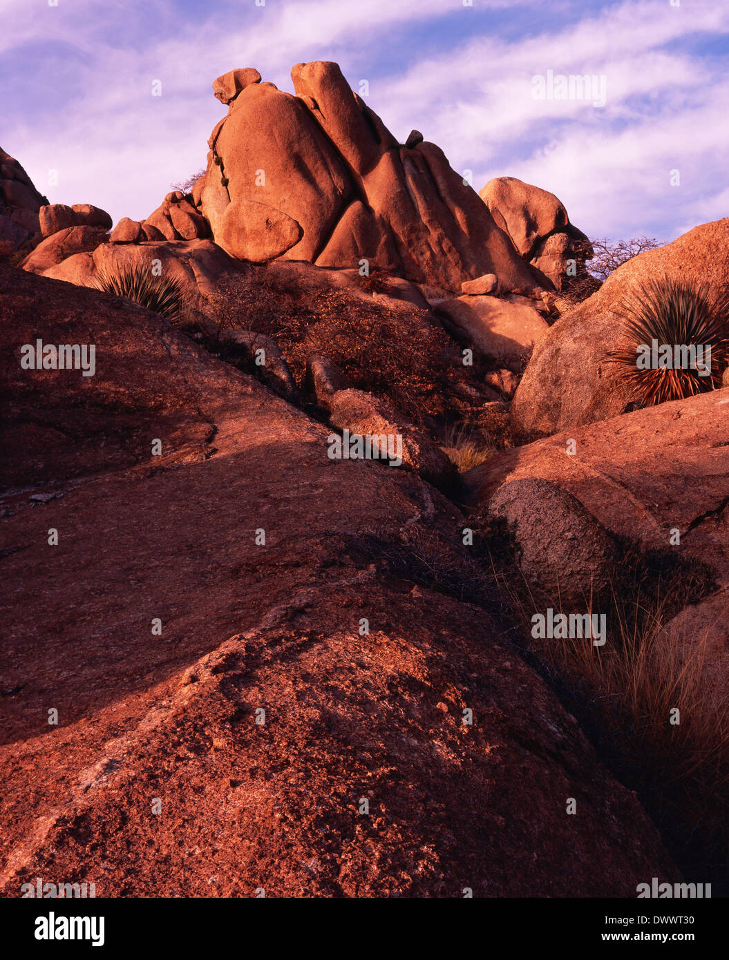 Boulders Reach for Clouds - Stock Image