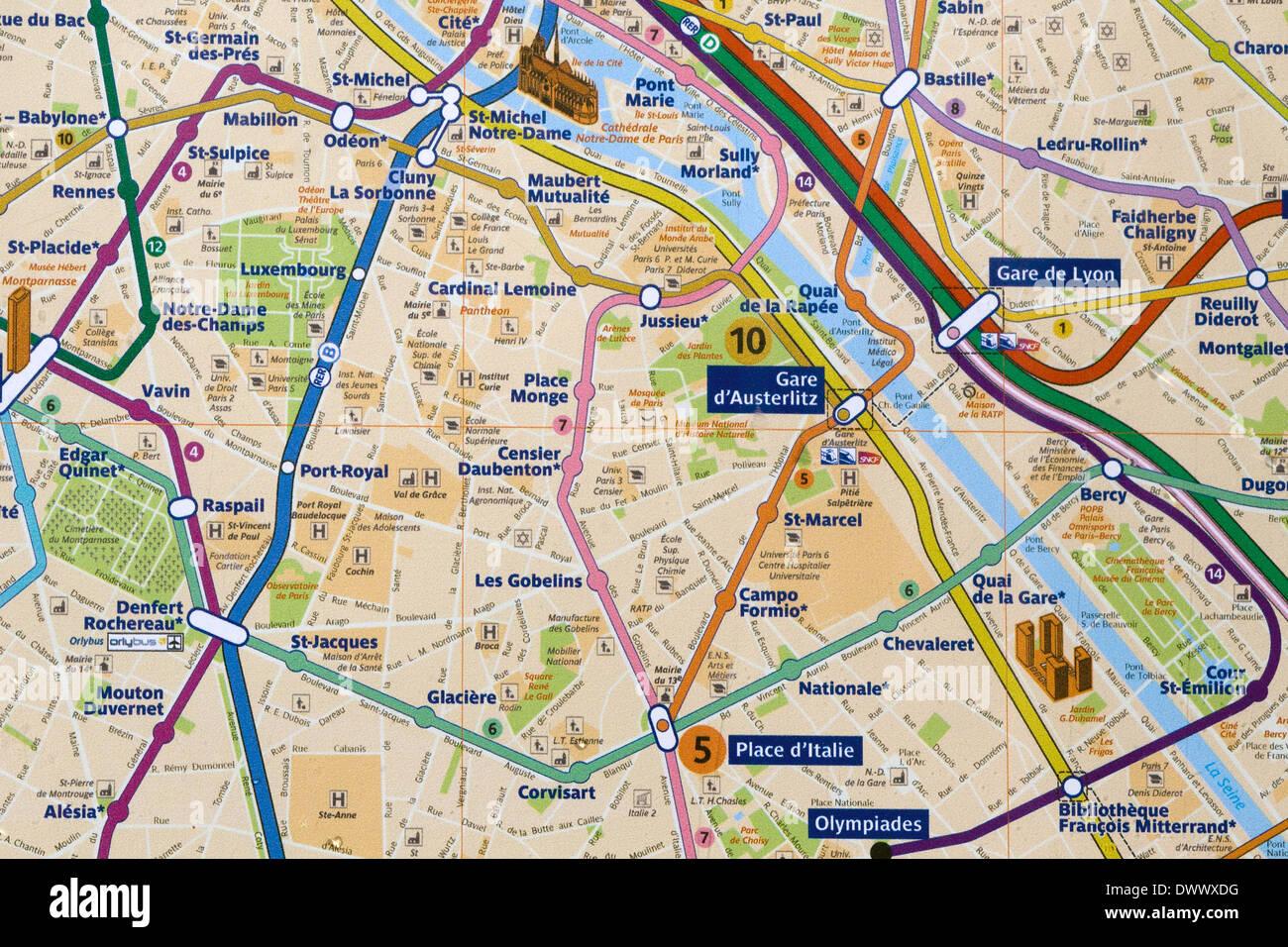 Paris City Map Stock Photos & Paris City Map Stock Images - Alamy on