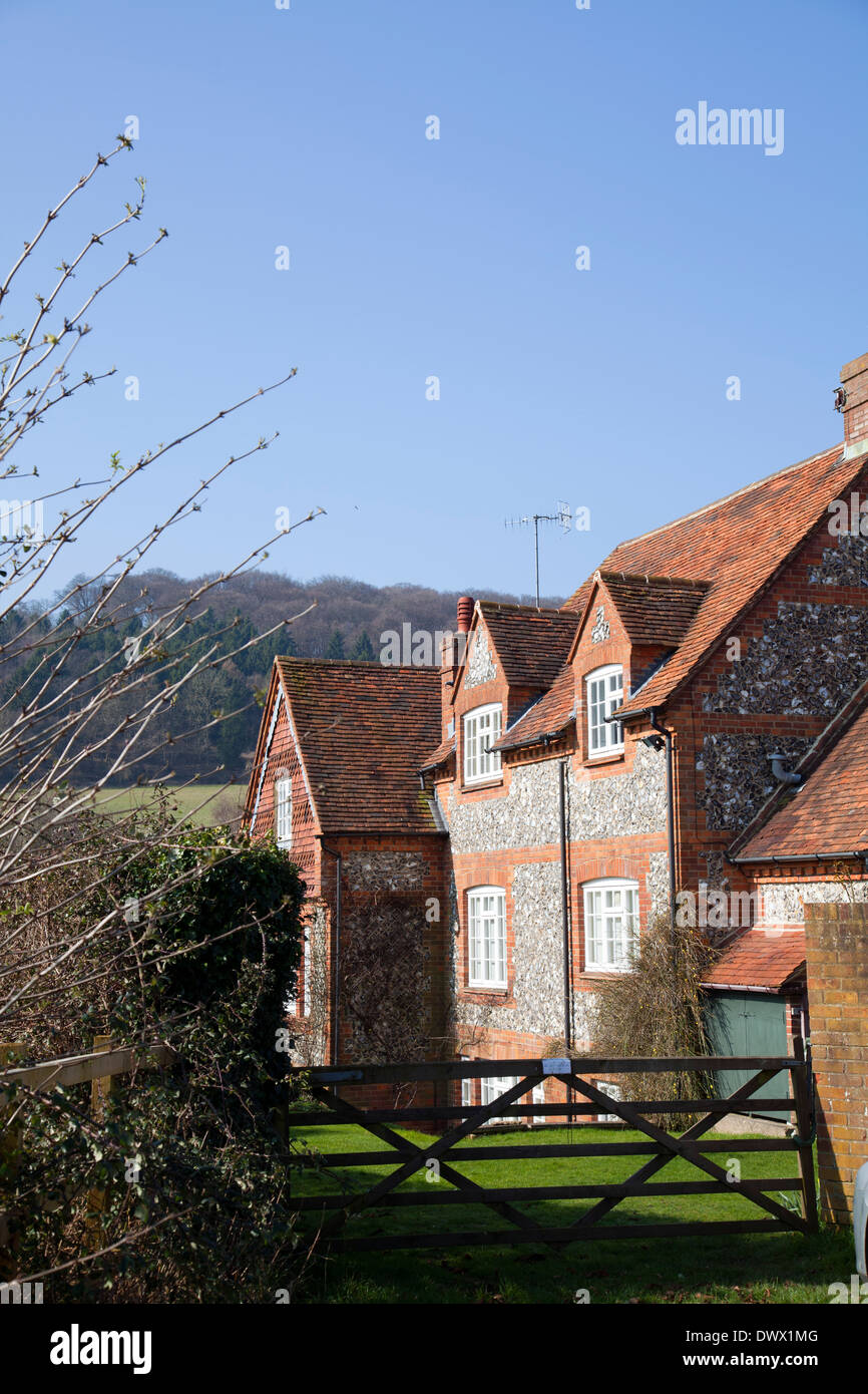 Hambleden Village in Buckinghamshire in UK - Stock Image