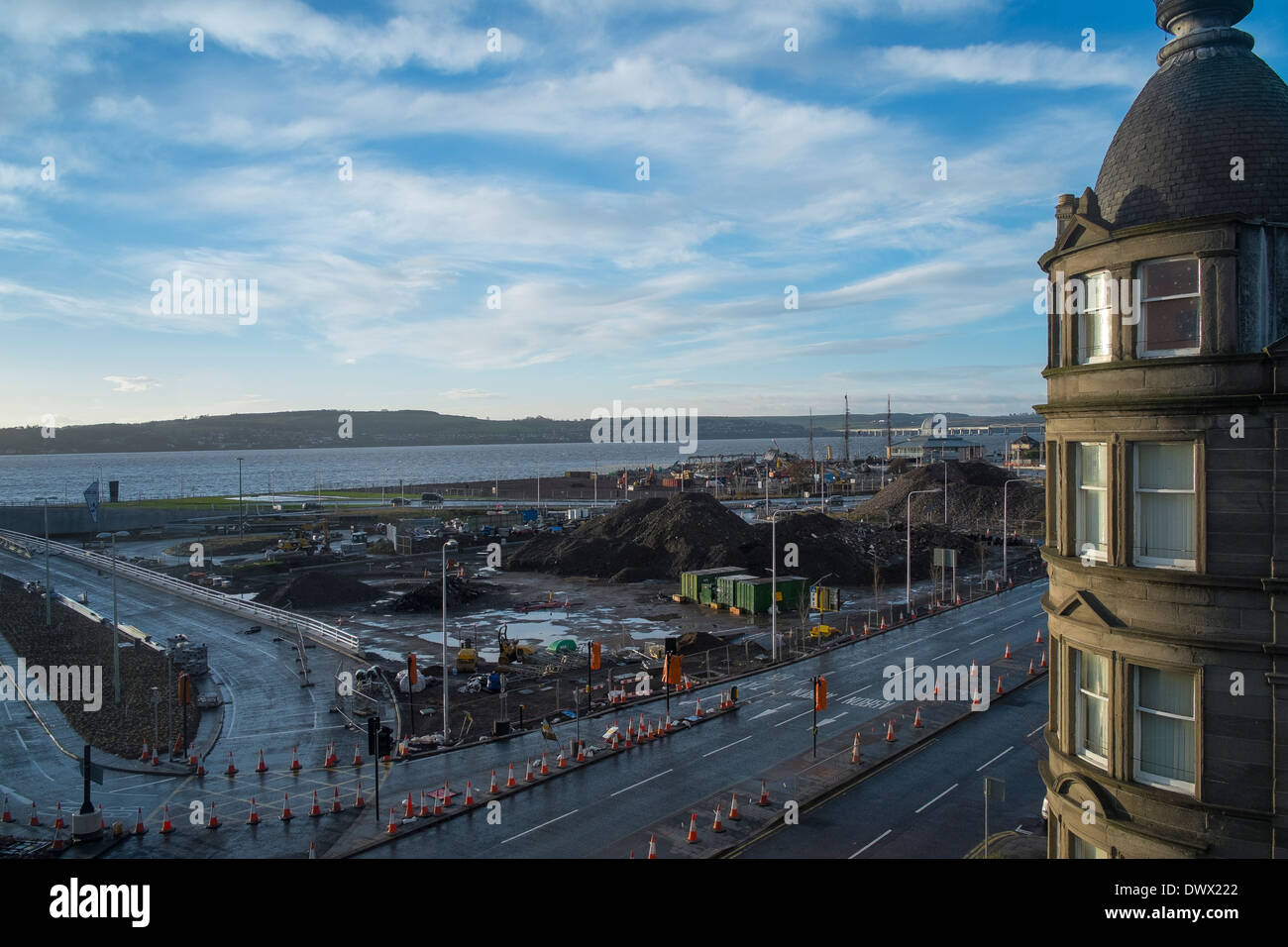 construction site for V&A Museum in Dundee Photo by Peter Cavanagh [Must Credit] - Stock Image