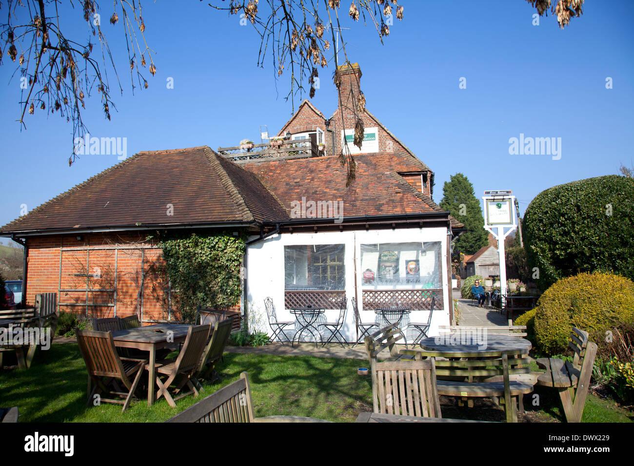 The Frog Pub and Restaurant in Skirmett in Buckinghamshire - UK Stock Photo