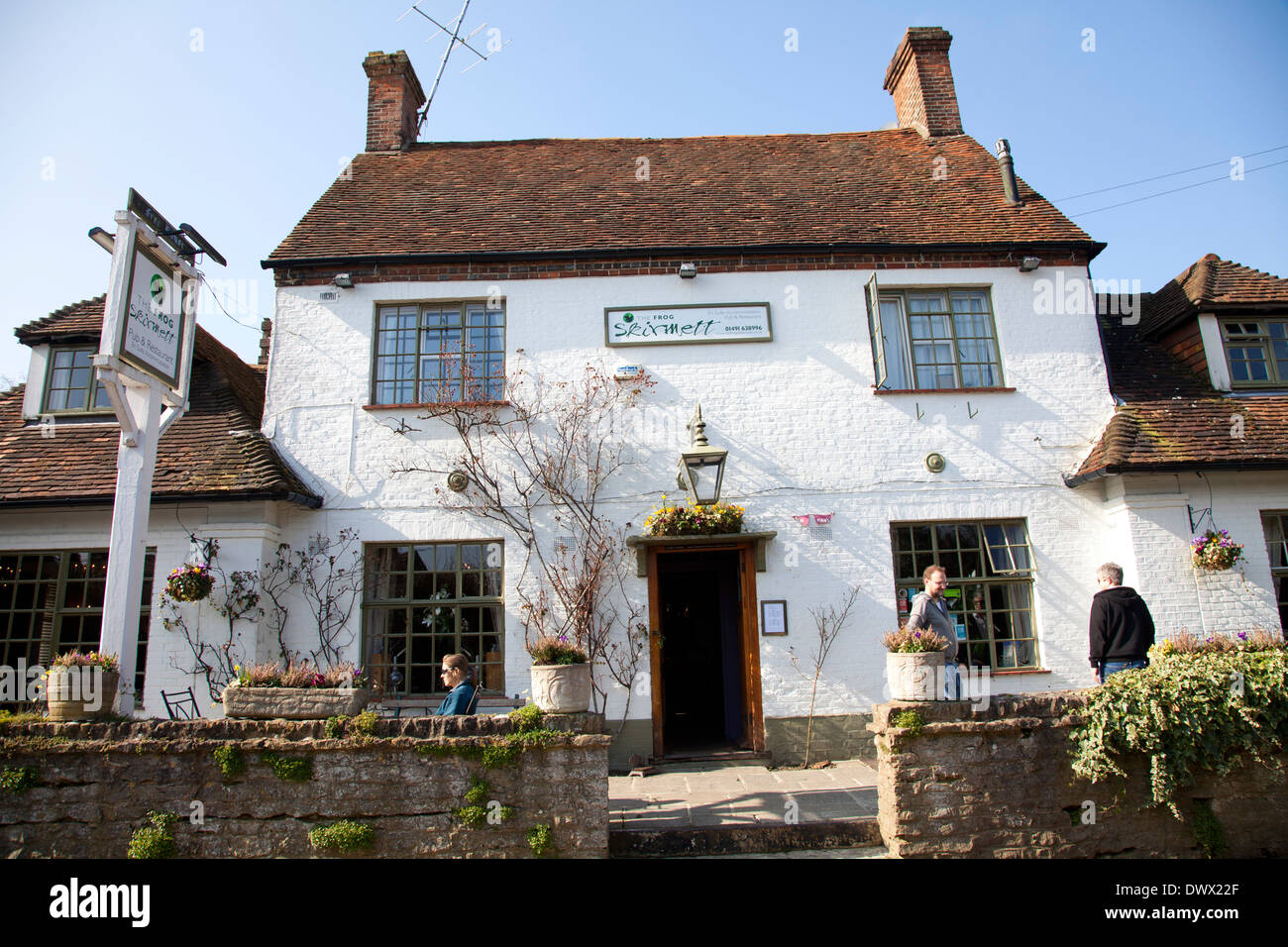 The Frog Pub and Restaurant in Skirmett in Buckinghamshire - UK - Stock Image