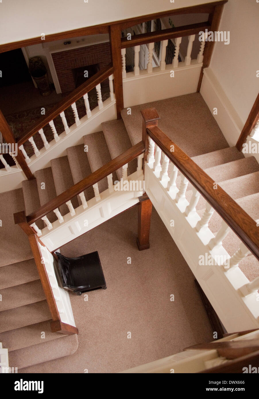 Staircase Banister And Balusters In Arts And Craft Style