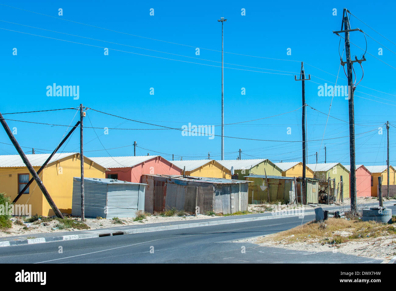 Housing project in Khayelitsha, Cape Town, Western Cape, South Africa - Stock Image