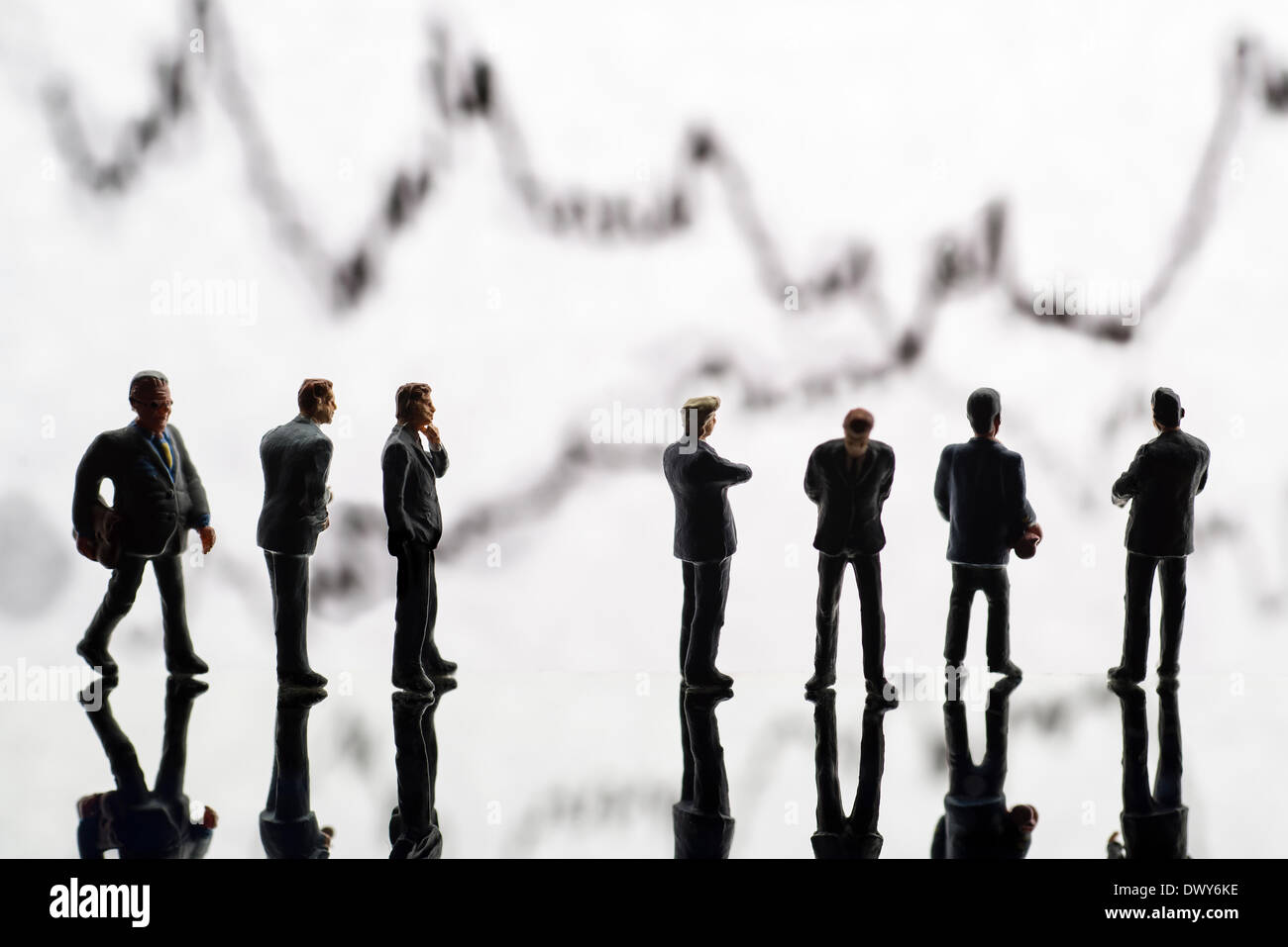 Bankers and stock index - Stock Image
