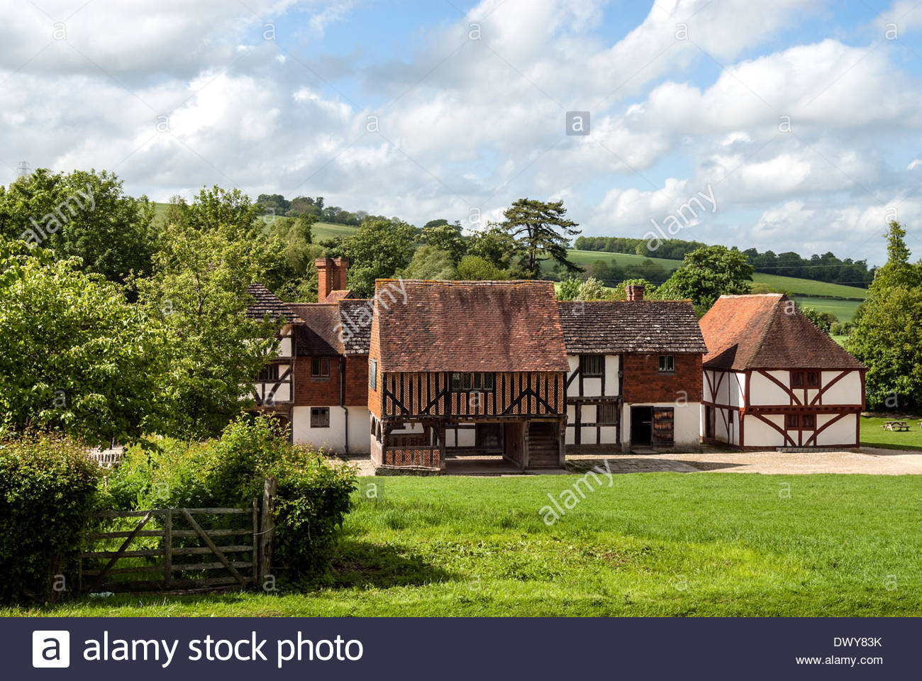 Traditional English Houses At The Weald Downland Open Air Museum Of Singleton Southeast England