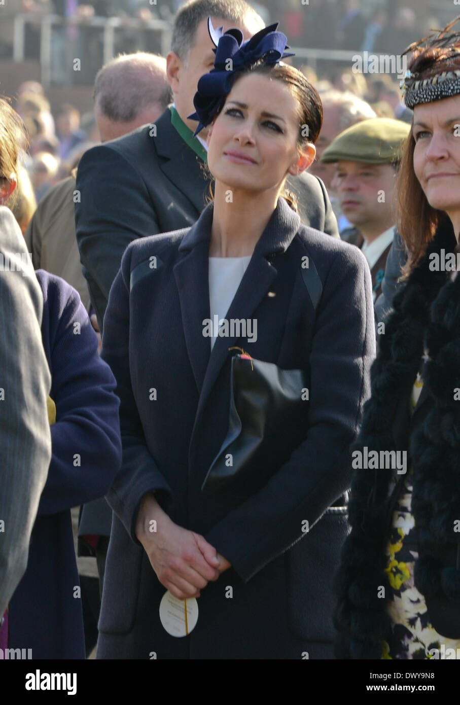 Cheltenham, Gloucestershire, UK . 14th Mar, 2014. Kirsty Gallacher at Cheltenham Gold Cup Festival 2014, day 4, The Cheltenham Gold Cup. Credit:  jules annan/Alamy Live News Stock Photo