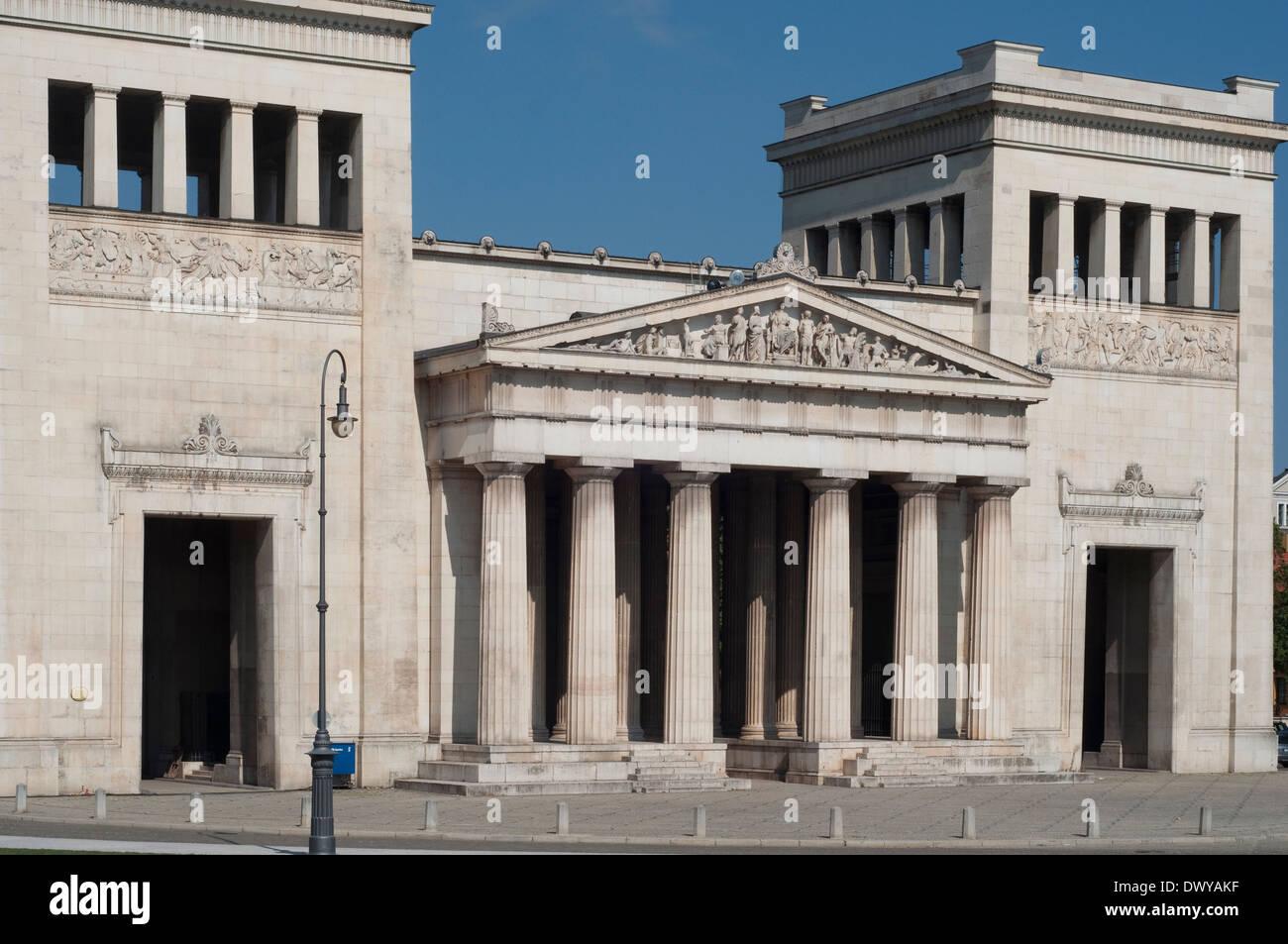 Germany, Bavaria, Munich, Koenigsplatz Square, Propylaea Building - Stock Image