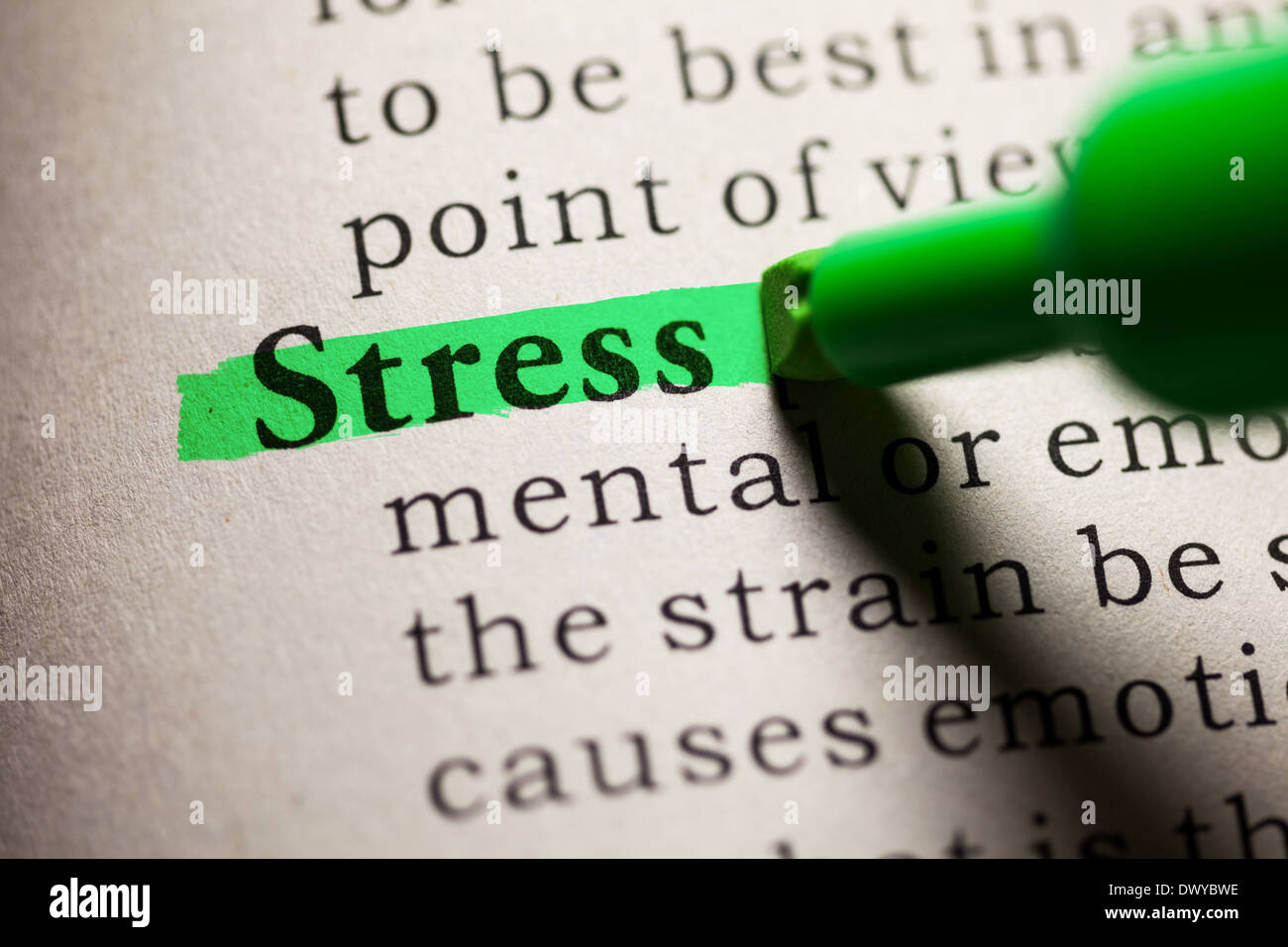 fake dictionary, definition of the word stress stock photo: 67599546