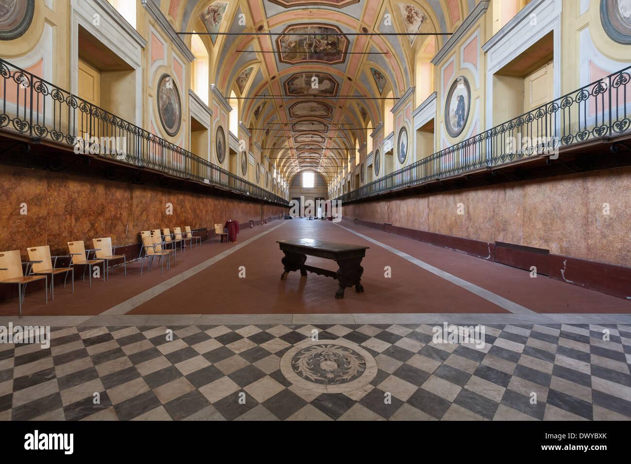 Naples (Italy) - Monumental complex of Santa Maria della Pace, Lazaretto hall Stock Photo