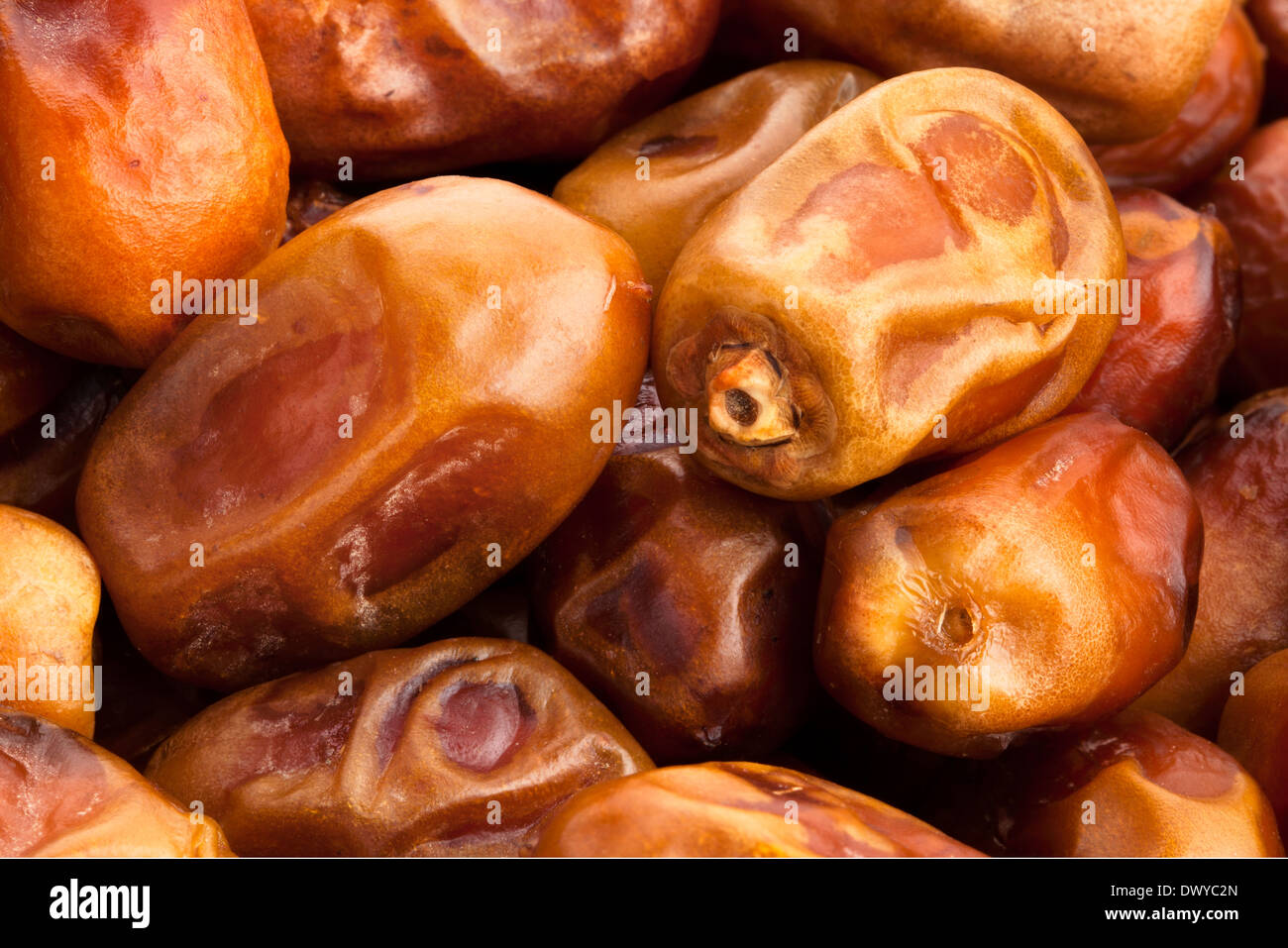 dates fruit macro - Stock Image