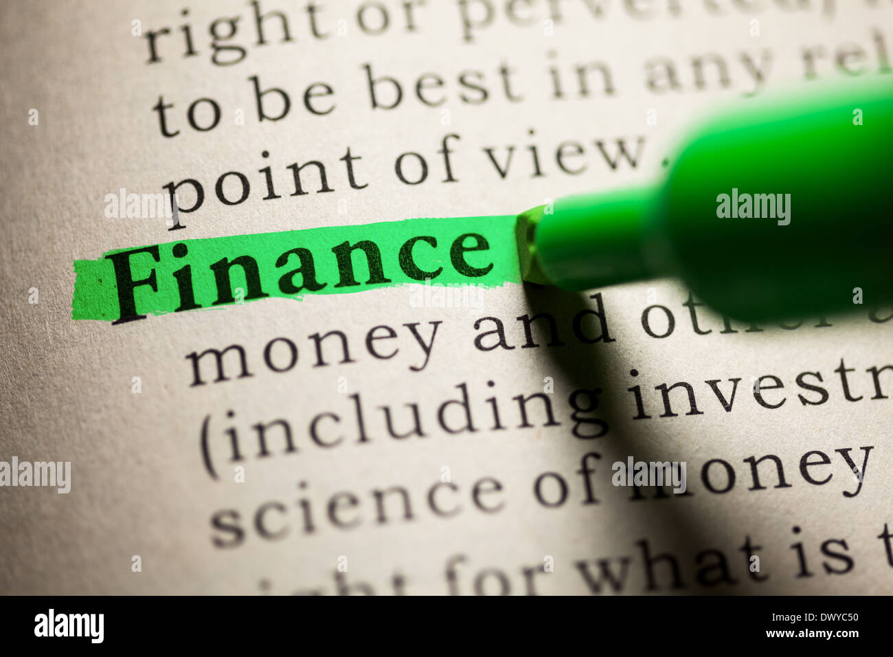 Fake Dictionary, definition of the word Finance Stock Photo: 67599756 - Alamy