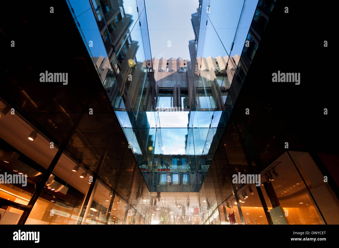 Germany, Bavaria, Munich, Fuenf Hoefe, Five Courtyards, Shopping Passage - Stock Image