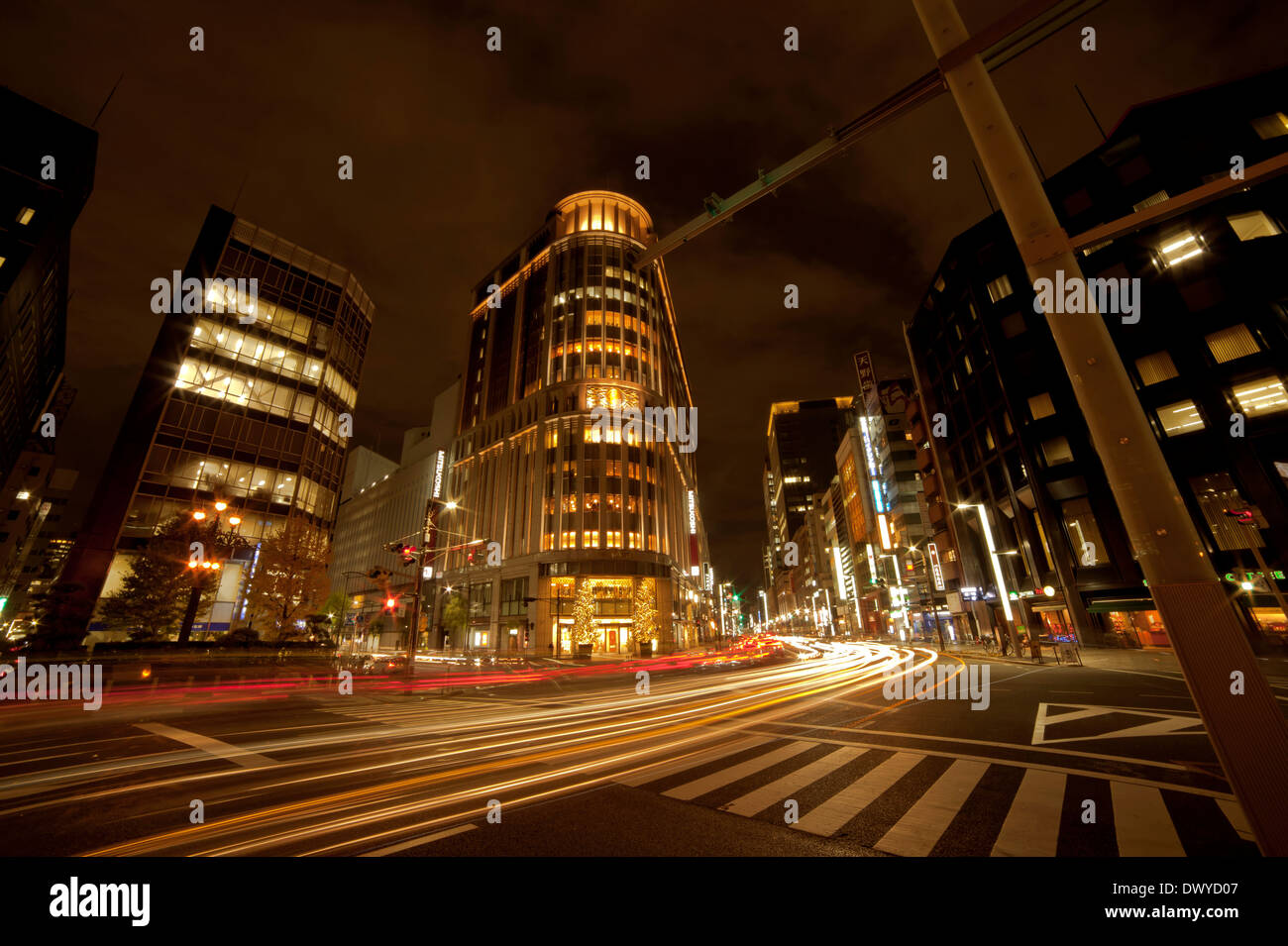 street view at night in tokyo japan stock photo 67600407