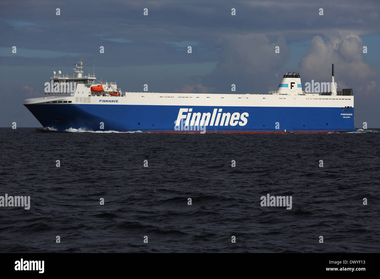 Wismar, Germany, the ferryboat Finnlines on the Baltic Sea - Stock Image