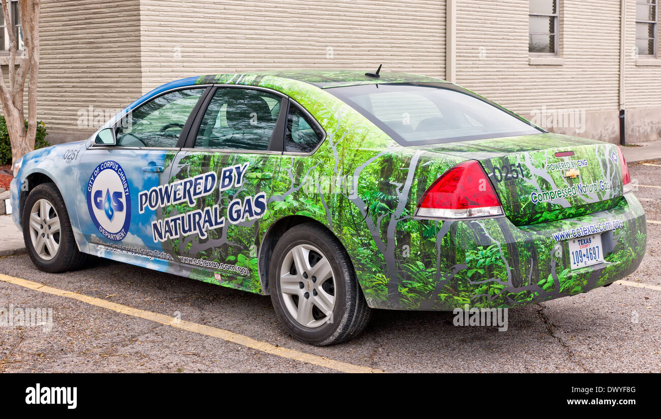 Vehicle powered by compressed natural gas. - Stock Image
