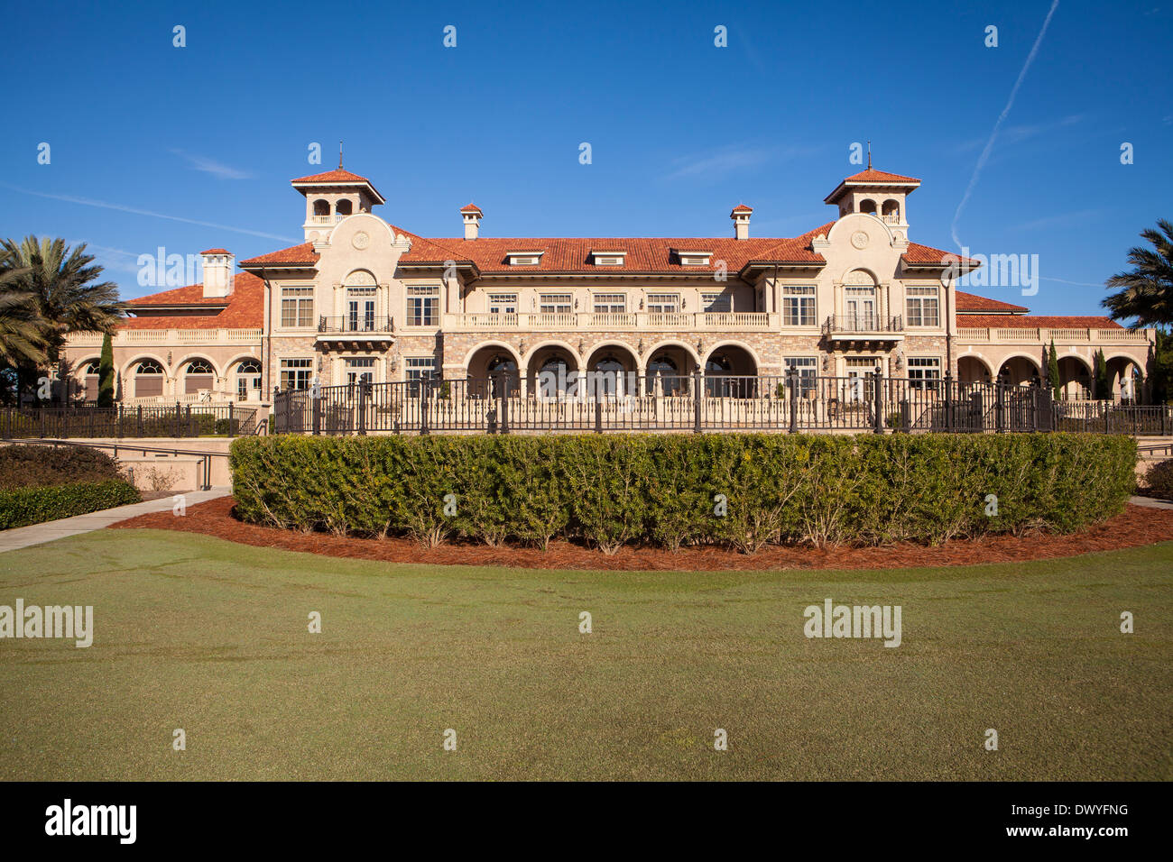 TPC at Sawgrass clubhouse is pictured in Ponte Vedra Beach, Florida - Stock Image