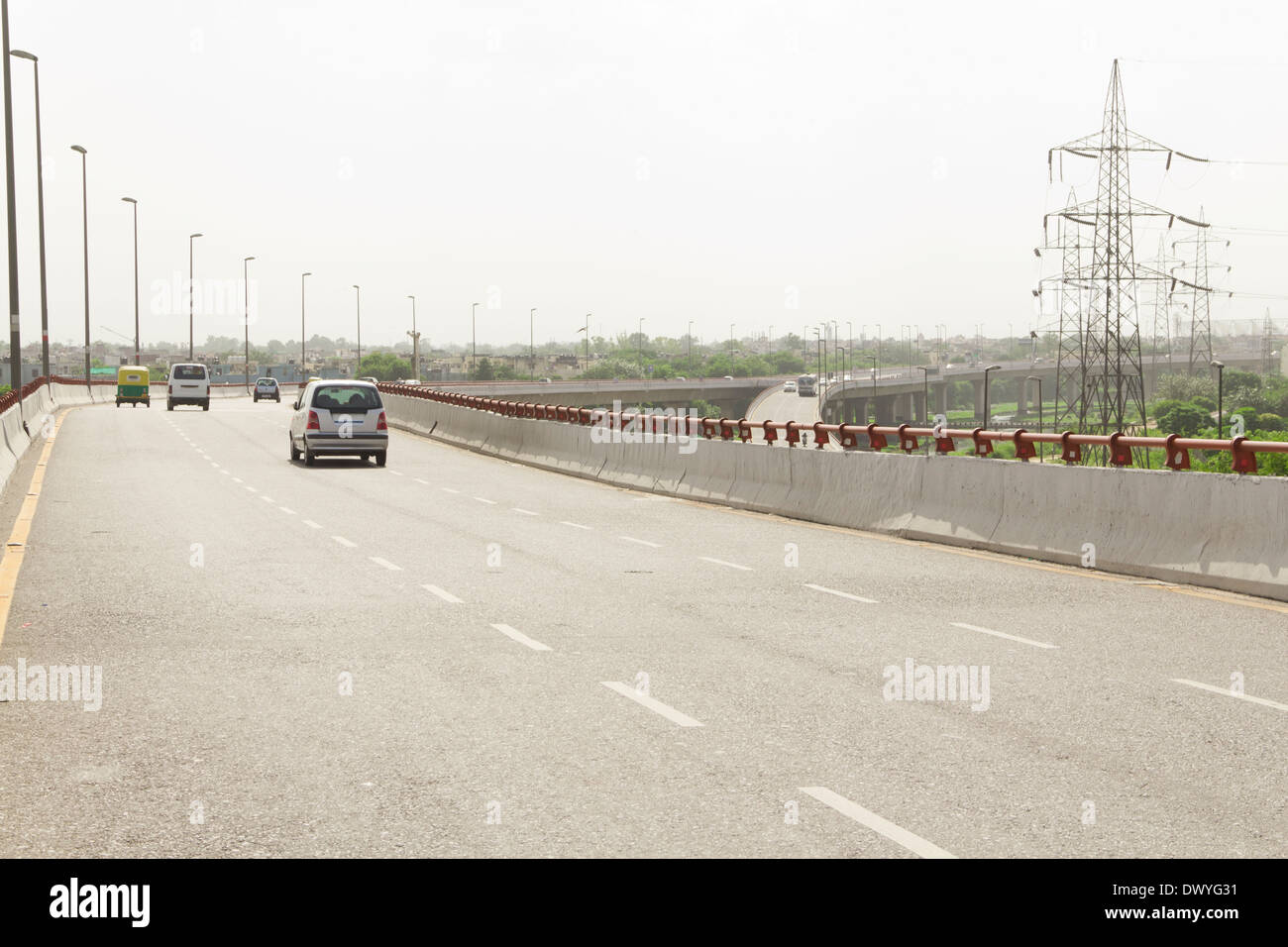Indian freeway flyover Stock Photo