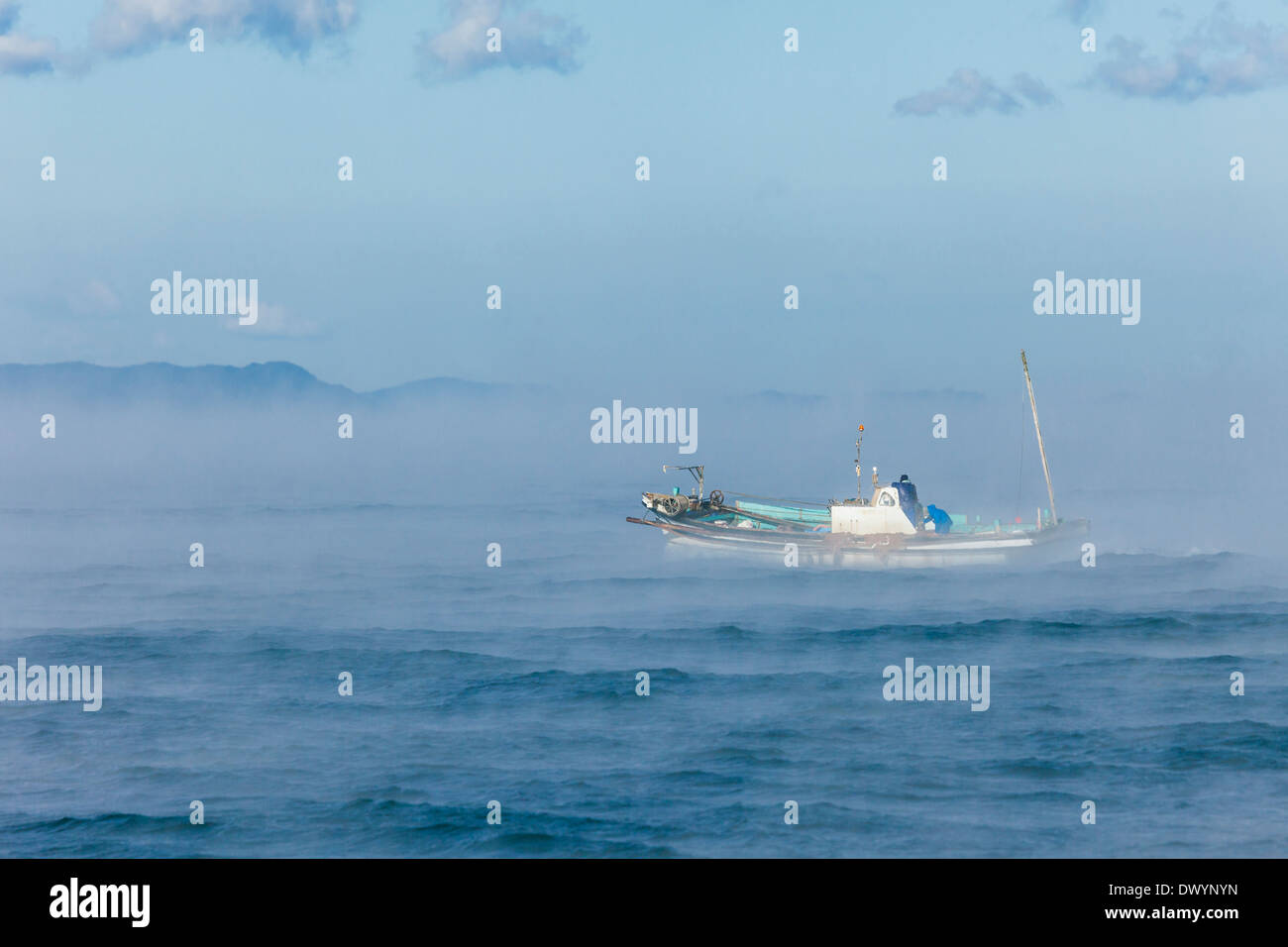 Hijikawa Storm, Seto Inland Sea, Ozu, Ehime Prefecture, Japan - Stock Image