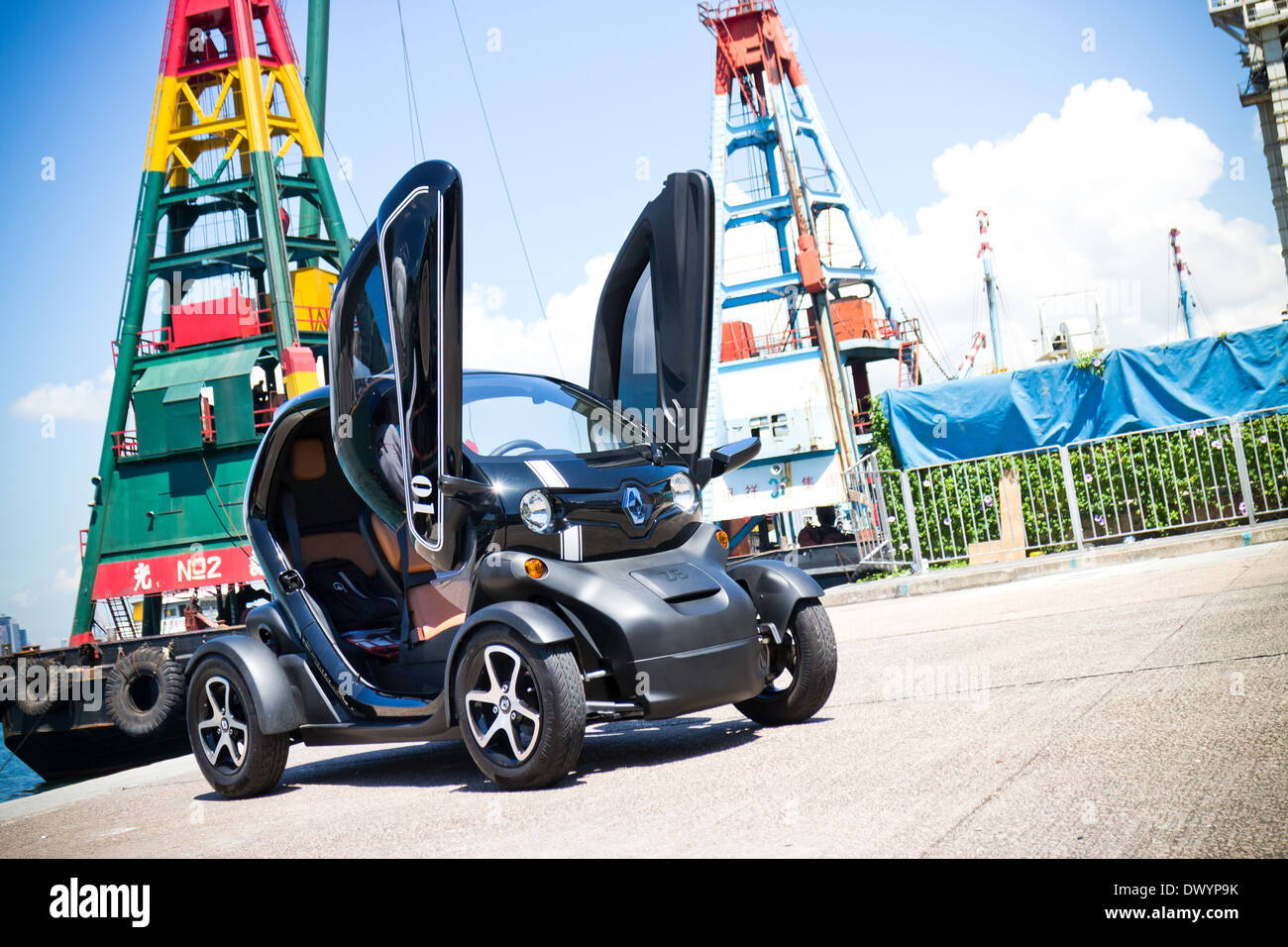 Renault Twizy Electronic Car with cyber design Stock Photo