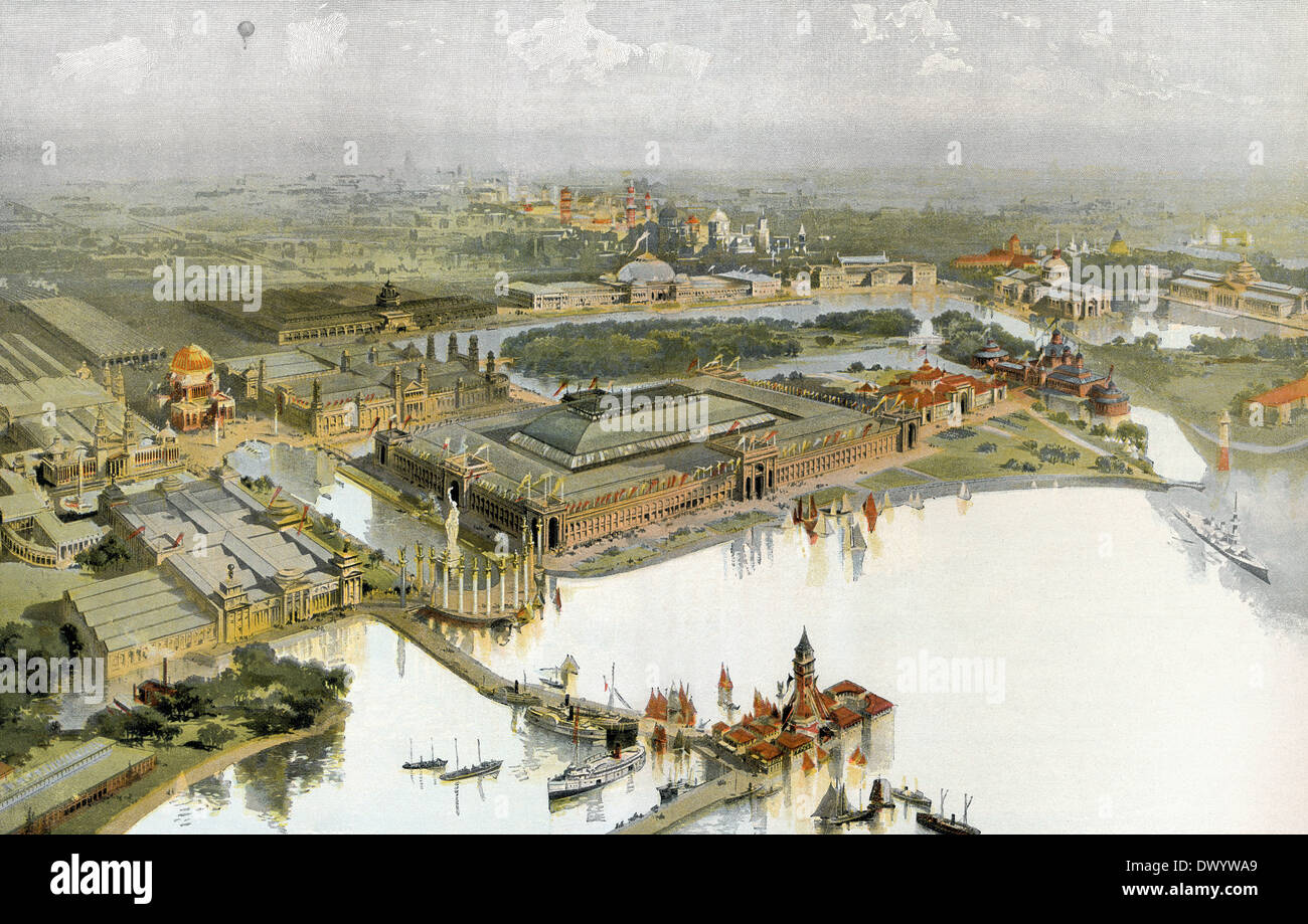 World's Columbian Exposition 1893, The Chicago World's Fair, Chicago, Illinois, USA Stock Photo