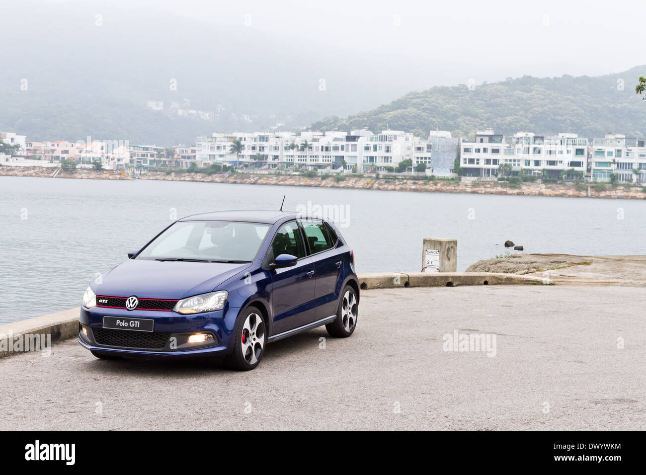 Volkswagen Polo Gti 2013 Model With Blue Colour Stock Photo Alamy