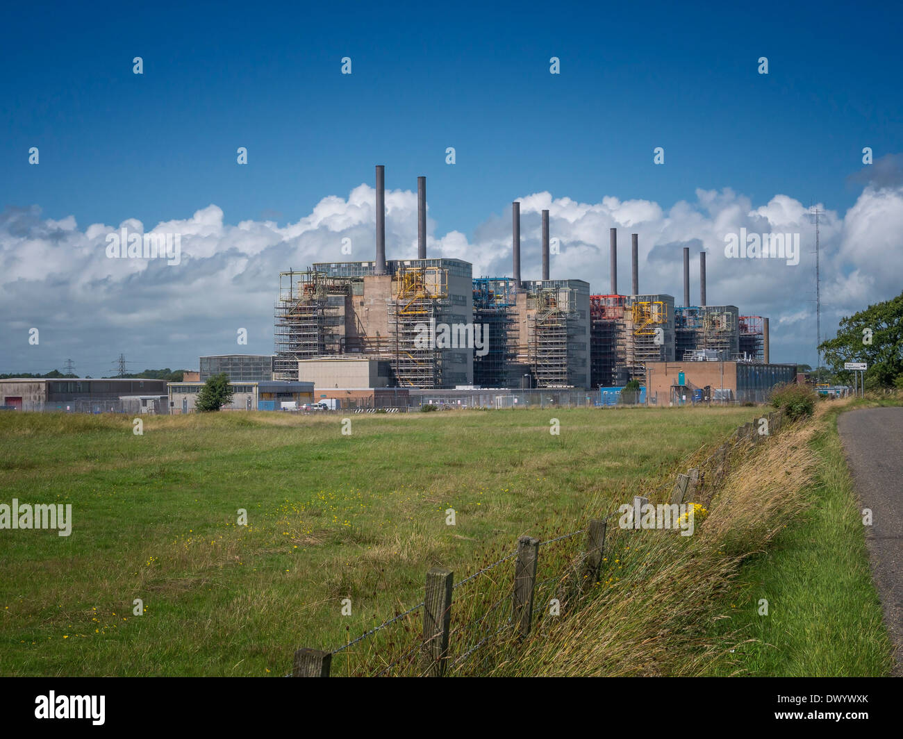 The Chapelcross nuclear power station, near Annan, Scotland. The four Magnox reactors on the site are being decommissioned. - Stock Image