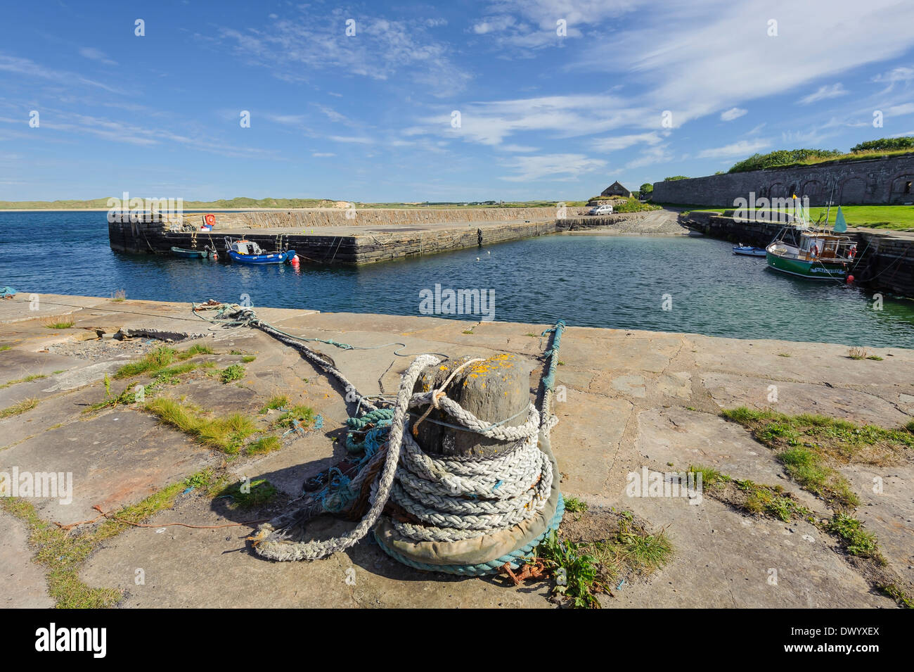 The small harbour at Castletown, Caithness, Scotland. - Stock Image