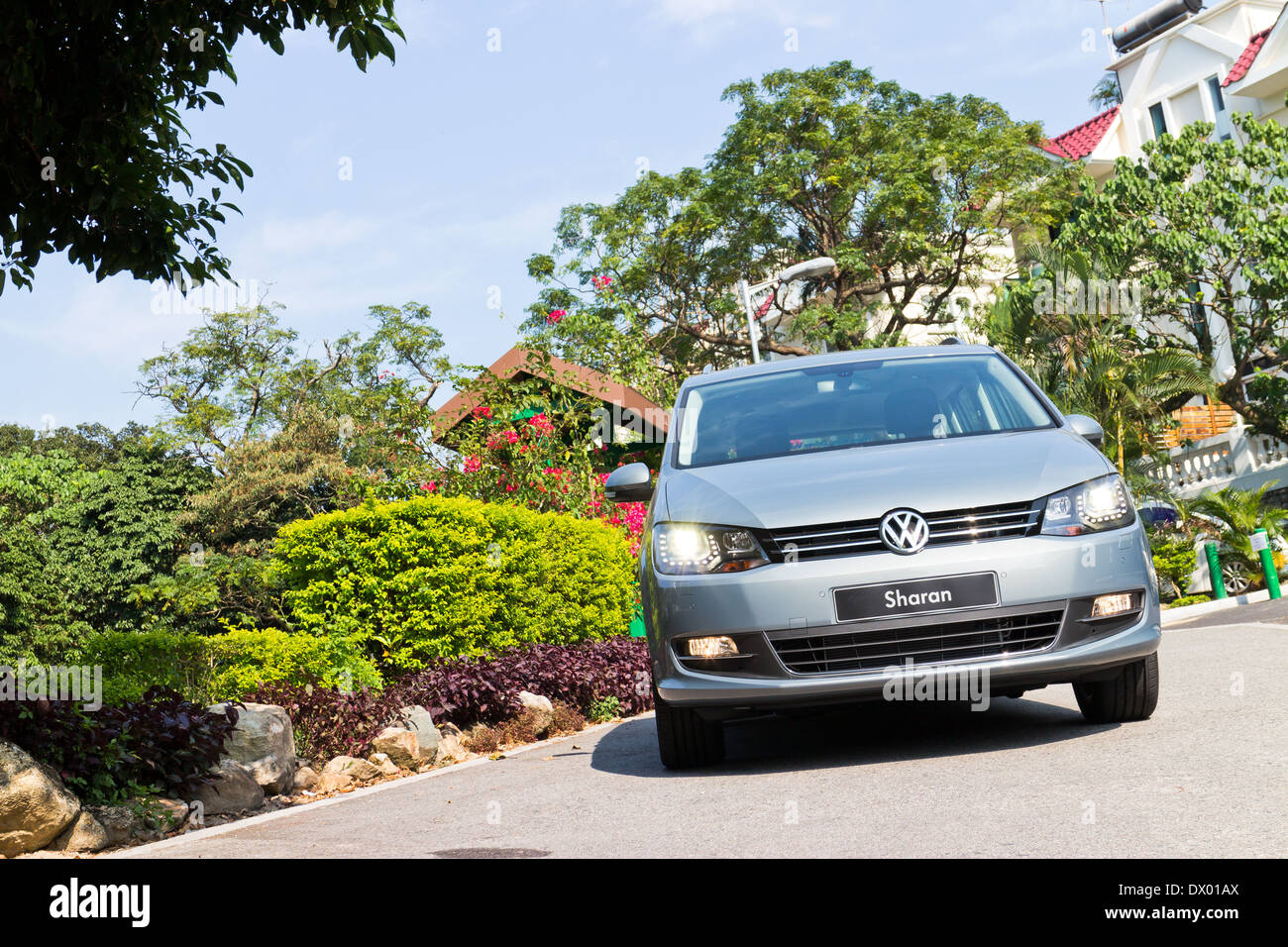 Volkswagen Sharan 2013 MPV, the entry level family car for 7 seat. - Stock Image