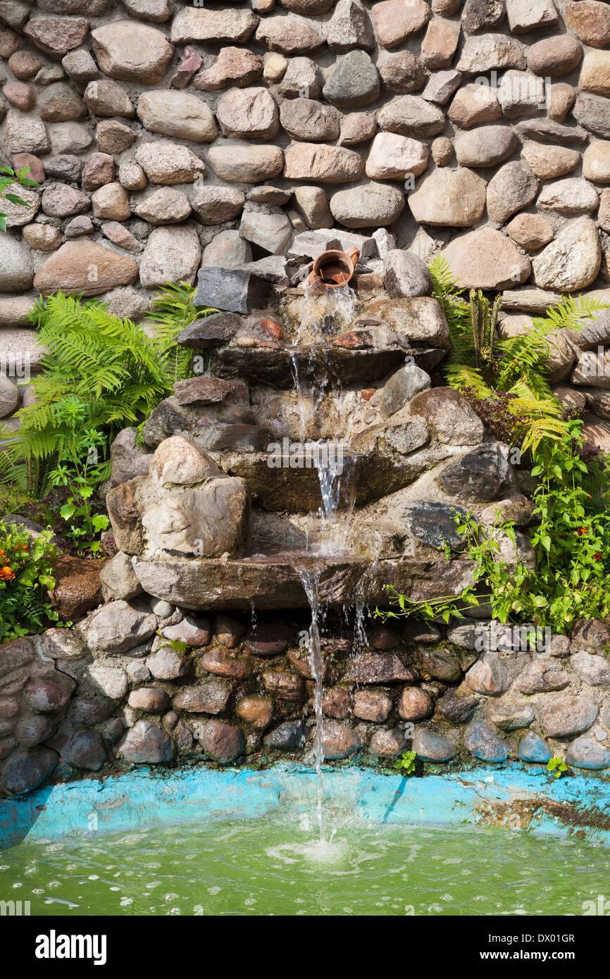 Bubble Fountain Garden Stone Stock Photos Bubble Fountain