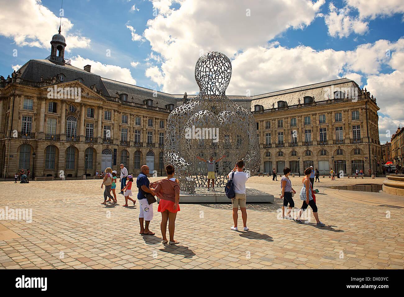 Place de la Bourse in Bordeaux, France - Stock Image