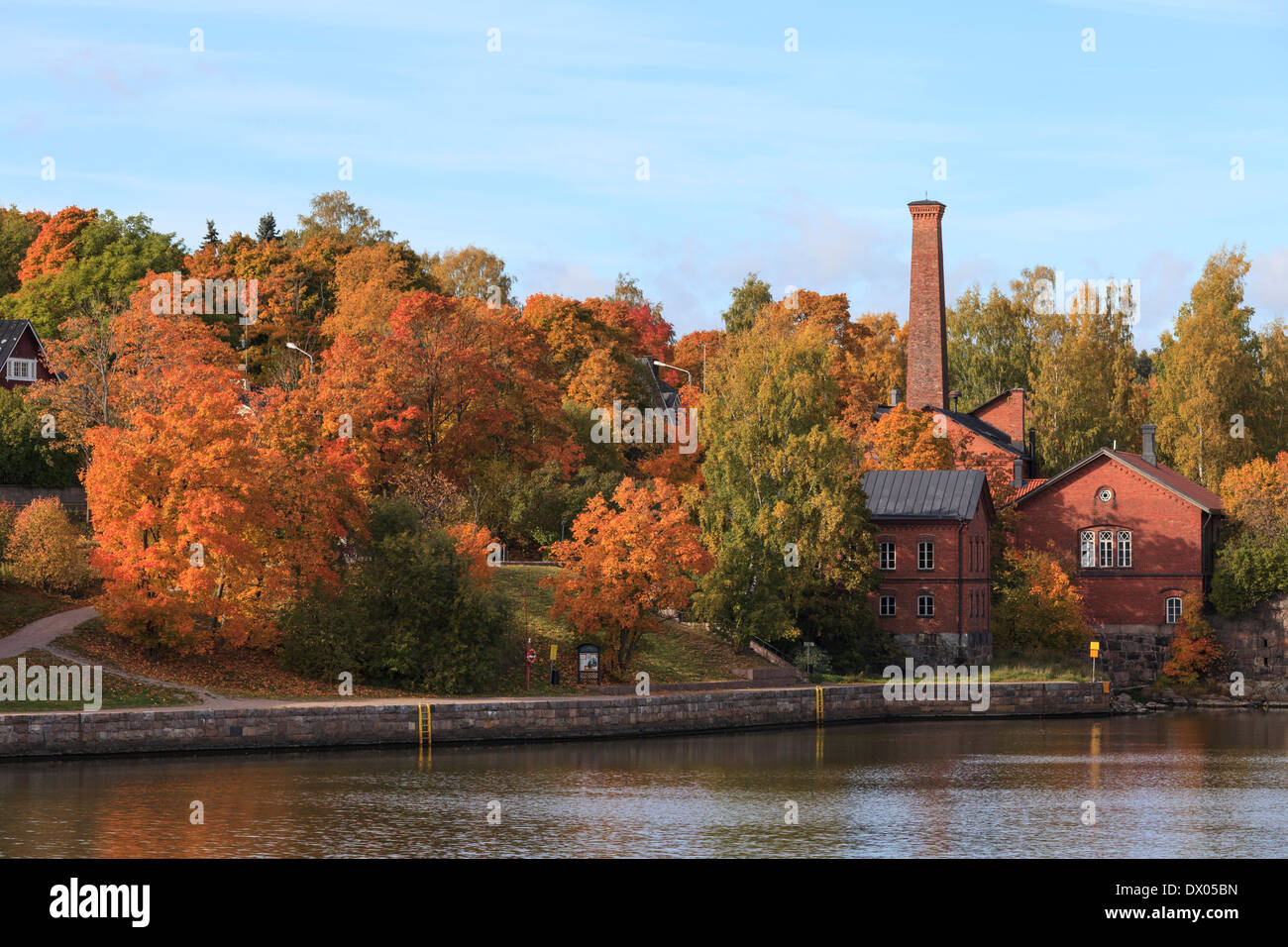 Autumn in Helsinki Arabia district. - Stock Image