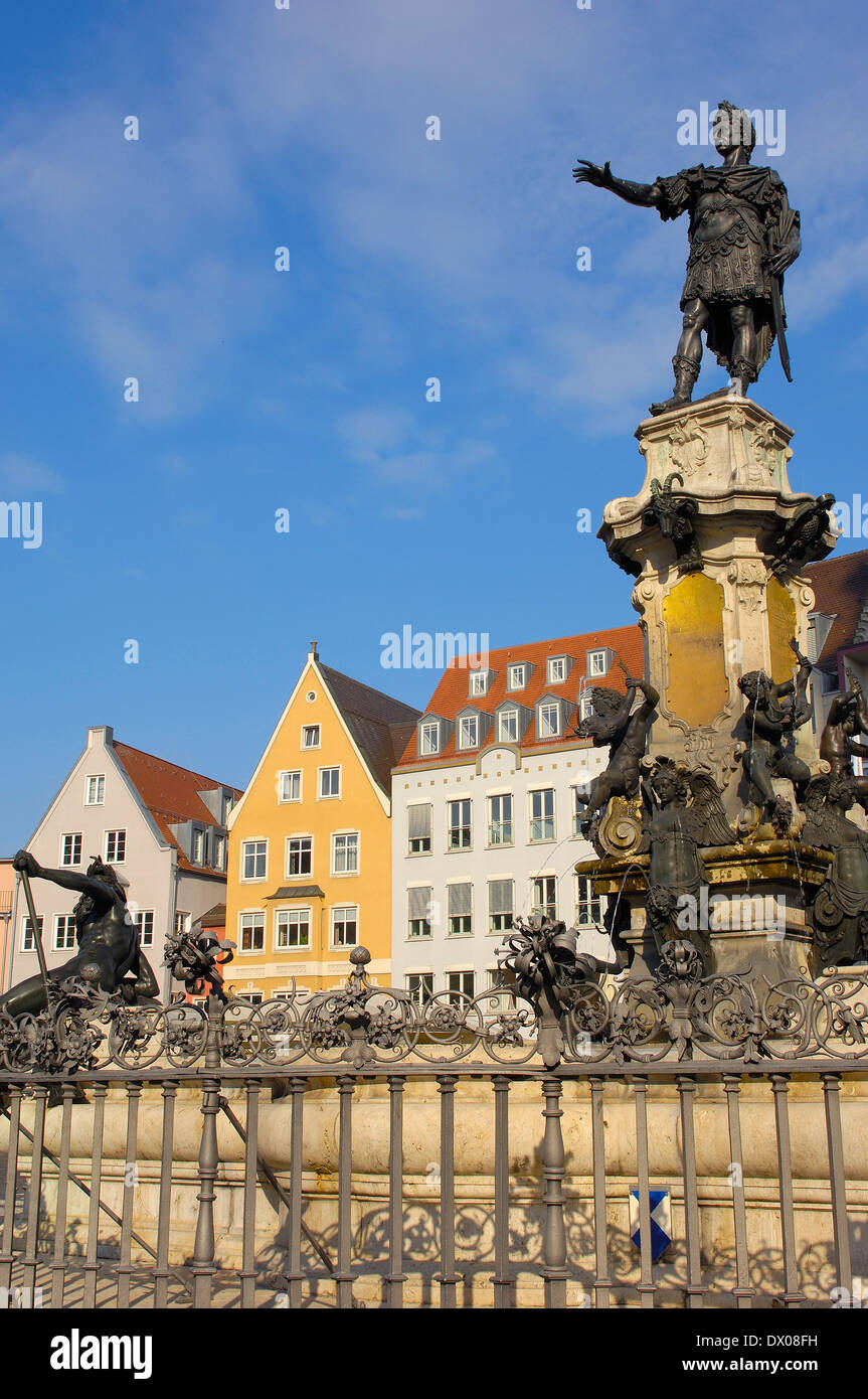 Town hall square, Augsburg - Stock Image